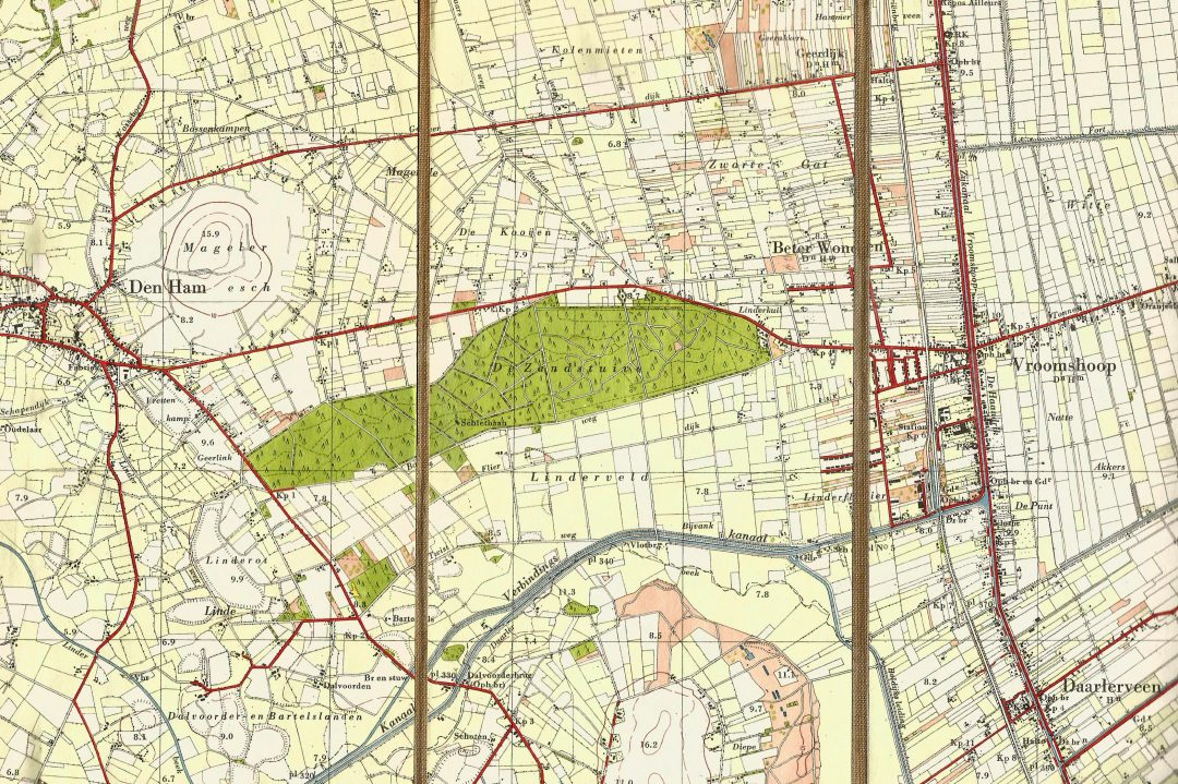 Een plattegrond uit 1952